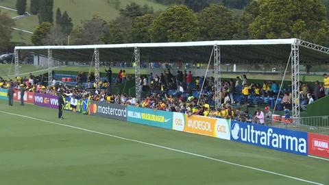 Brasil despide a sus jugadores en entrenamiento abierto