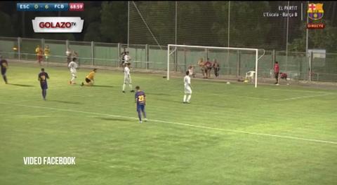 Video: La asistencia de gol que dio Choco Lozano en su debut con Barcelona B
