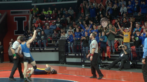 Trey Hild Vs. Zach Haley 145 Pound State Championship!