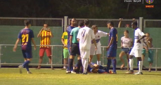 Curioso: Anthony Lozano intimidó al rival y defendió a su compañero tras dura falta