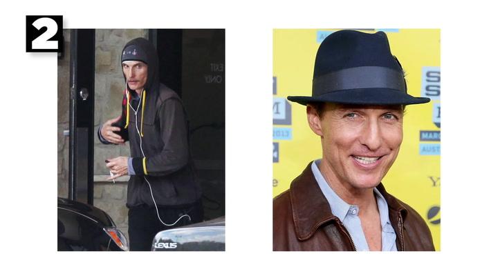 Los cambios de look más sorprendentes de Mathew McConaughey