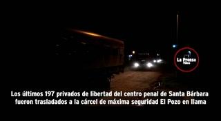 Trasladan a los últimos 197 reclusos del penal de Santa Bárbara
