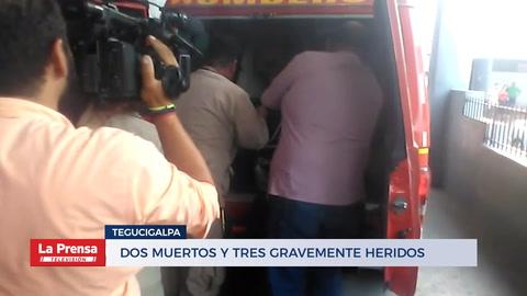 Dos bomberos muertos y tres gravemente heridos