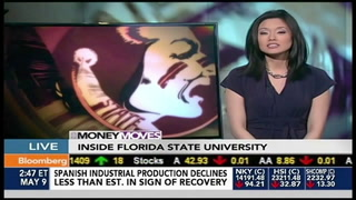 FSU President Eric Barron on Bloomberg TV May 9, 2013