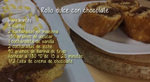 Cocinando con Mayte: Rollo dulce con chocolate