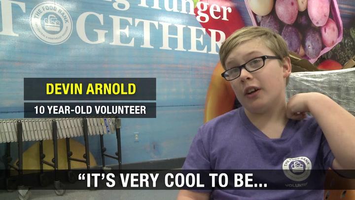 Kids help kids facing hunger