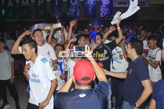 Sampedranos madridistas  enloquecieron con el tricampeonato del Real Madrid en el estadio virtual de DIEZ