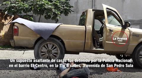 En persecución capturan a un supuesto asaltacasas en San Pedro Sula