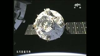 Carguero espacial chino logra acoplarse a laboratorio espacial