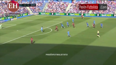 Barcelona remonta ante el Getafe 2-1 y es líder en España