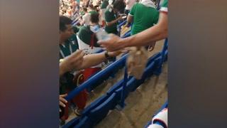 Subiendo: Aficionados mexicanos imitan a los japoneses y africanos y se ponen a limpiar estadios en Rusia