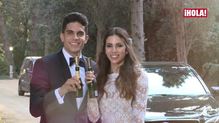 La involuntaria y divertida \'cobra\' de Marc Bartra a Melissa Jiménez en su boda