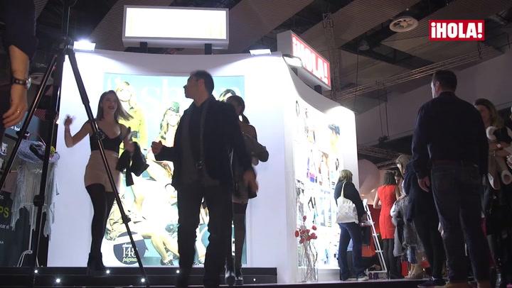 El stand de ¡HOLA! se convirtió en ¡una escuela de estilismo!