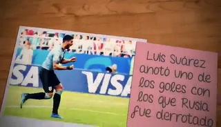 Uruguay golea a Rusia 3-0 y baja de la nube a los anfitriones