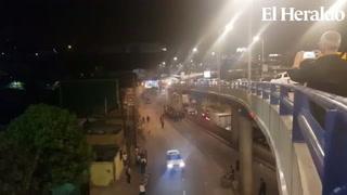Tegucigalpa: Policía habilita el paso en el sector de Camosa