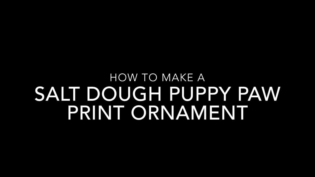 salt dough puppy paw print christmas ornament crafty morning