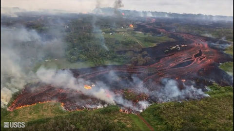 Aumentan fisuras y lava de volcán Kilauea, en Hawái