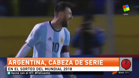 ¿Contra quién jugamos? Argentina será cabeza de serie en Rusia 2018