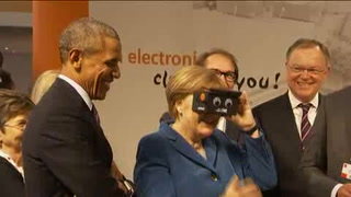Obama y Merkel asisten a apertura de Feria de Hannover
