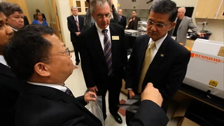 United States Secretary for Veterans Affairs Eric Shinseki tours HPMI