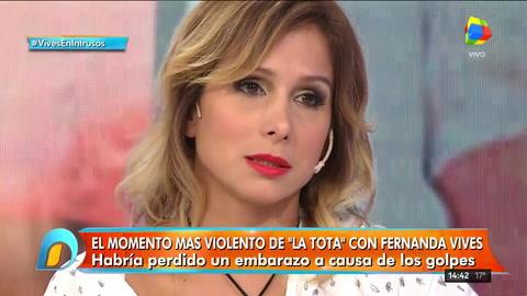 Nueva denuncia contra la Tota Santillán: Estaba de diez semanas de embarazo cuando me pegó