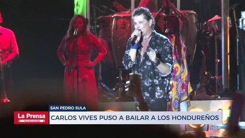 Carlos Vives puso a bailar a los hondureños con su vallenato