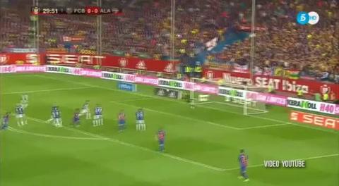 El golazo de Messi contra el Alavés
