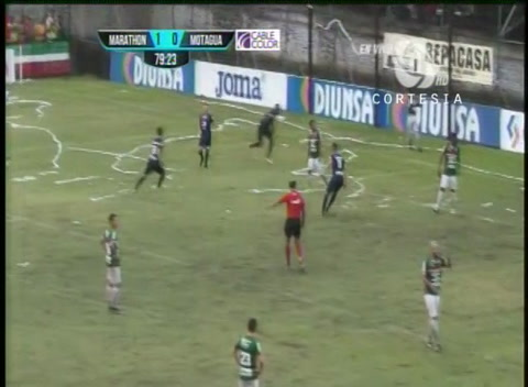 Rubilio Castillo anota el empate para Motagua ante Marathón