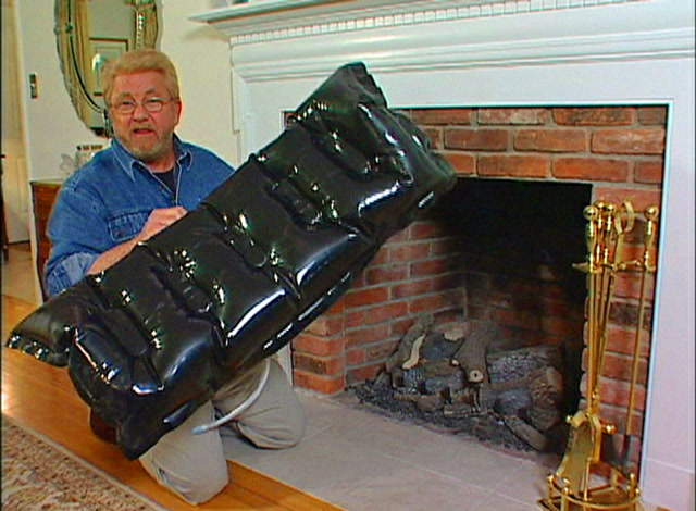 Inflatable Plug Keeps Heat from Escaping out Fireplace Chimney ...
