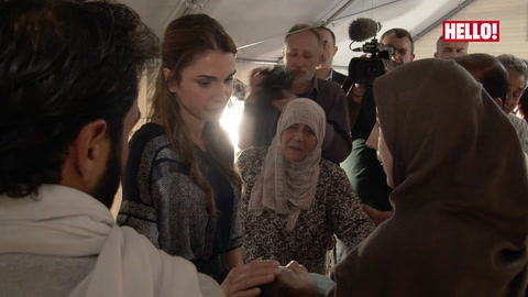 Queen Rania of Jordan meets young refugees and hears stories of \'unspeakable horror\'