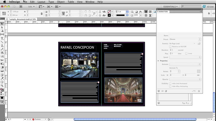 how to add interactivity in indesign