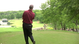 VIDEO: Pro golfer stays with friend during the Price Cutter Charity Championship