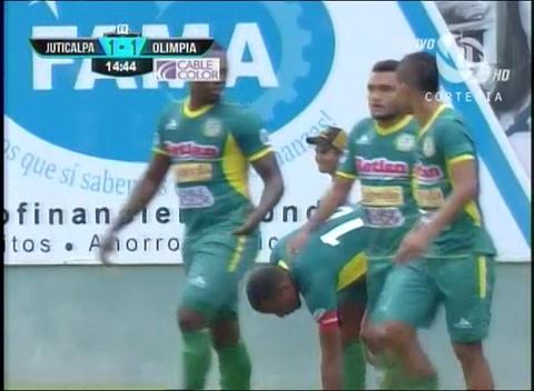 Ovidio Lanza anota el empate para el Juticalpa ante el León