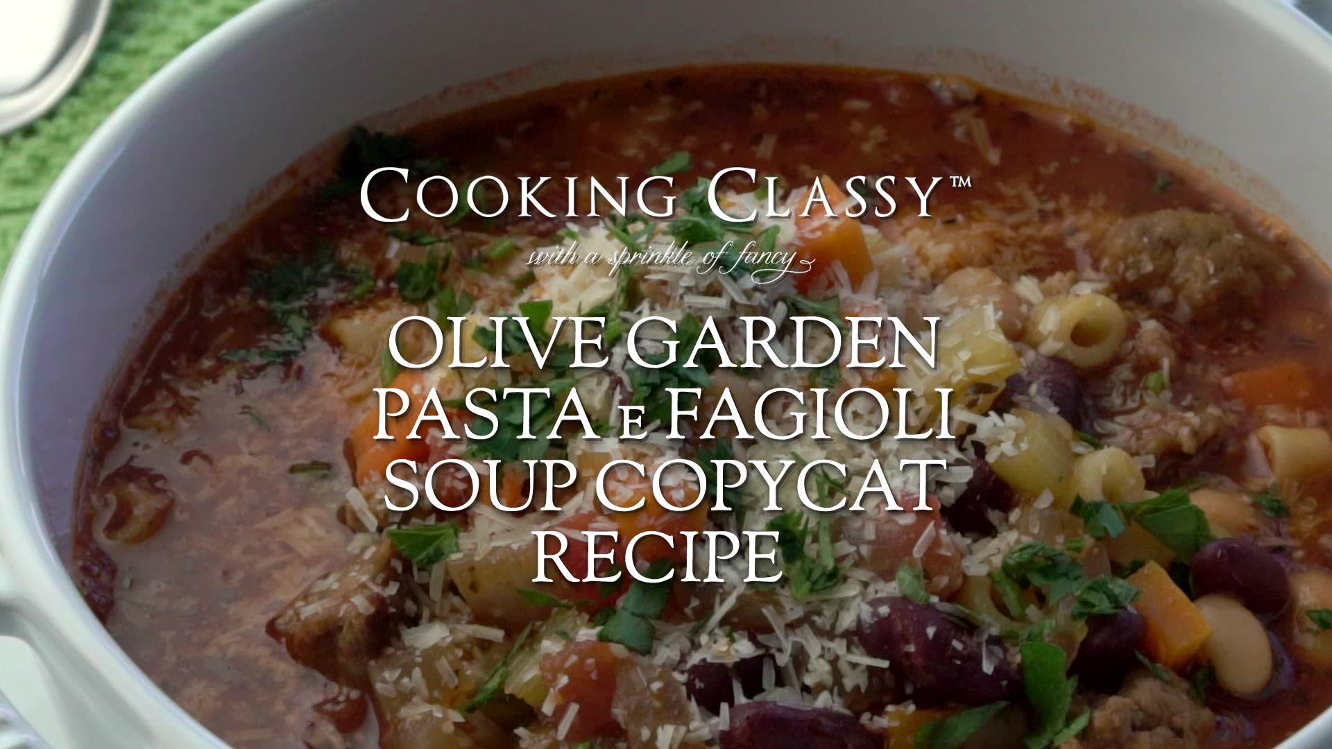 Olive garden recipes pasta e fagioli - Food pasta recipes
