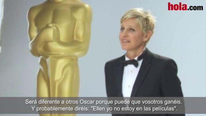 Así se prepara Ellen DeGeneres para presentar los Oscar
