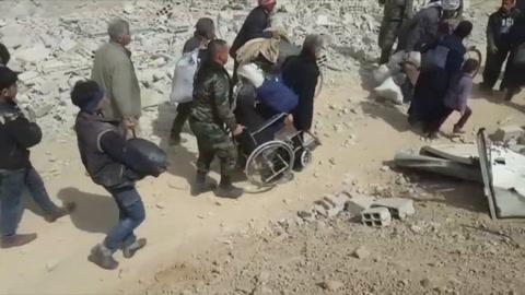 Más de 12.000 civiles huyeron de enclave rebelde sirio de Guta