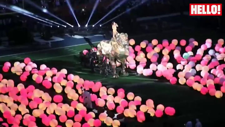 Katy Perry\'s spectacular half-time performance at the Super Bowl