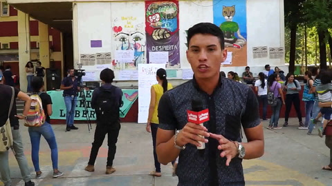 Protestan contra violación de Universitaria en la Unah-vs