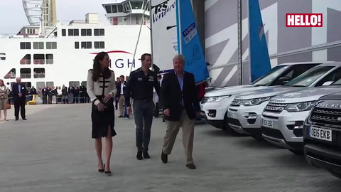 Kate sets sail during visit to Sir Ben Ainslie\'s sailing charity