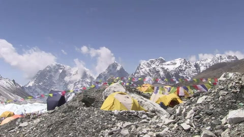 El campo base del Everest,