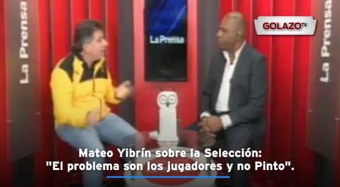 Mateo Yibrín sobre la Selección: ''El problema son los jugadores y no Pinto''