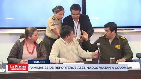 Familiares de reporteros asesinados viajan a Colombia