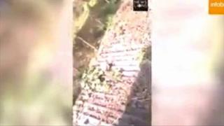 Anciano se enfrenta a un leopardo para poder salvar su vida