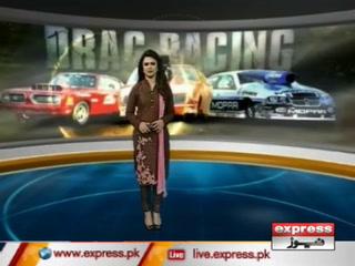 پشاور، ڈریگ ریس مقابلےمیں خواتین بھی شریک