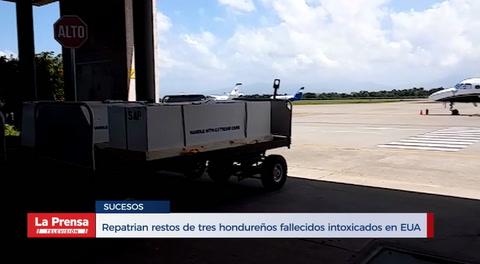Repatrian restos de tres hondureños fallecidos intoxicados en EUA