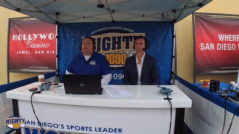 Dallas Eakins with Sileo at Fox 5 San Diego