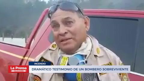 Dramático testimonio de un bombero sobreviviente a incendio
