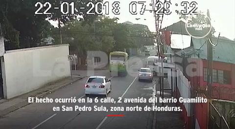 Así fue el choque de dos buses en San Pedro Sula