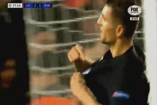 Thomas Meunier anota el 1 - 2 del PSG ante el Liverpool