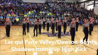 Montevideo Gold Dusters first-place High Kick.